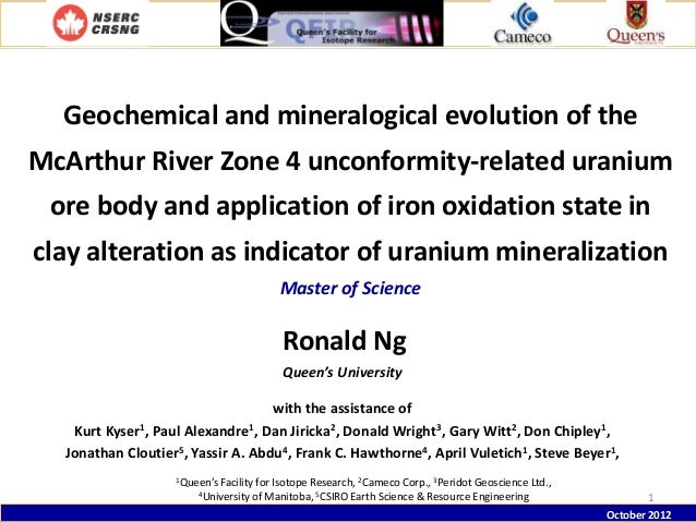 Geochemical and mineralogical evolution of the  McArthur River Zone 4 unconformity-related uranium ore body and applicatio...