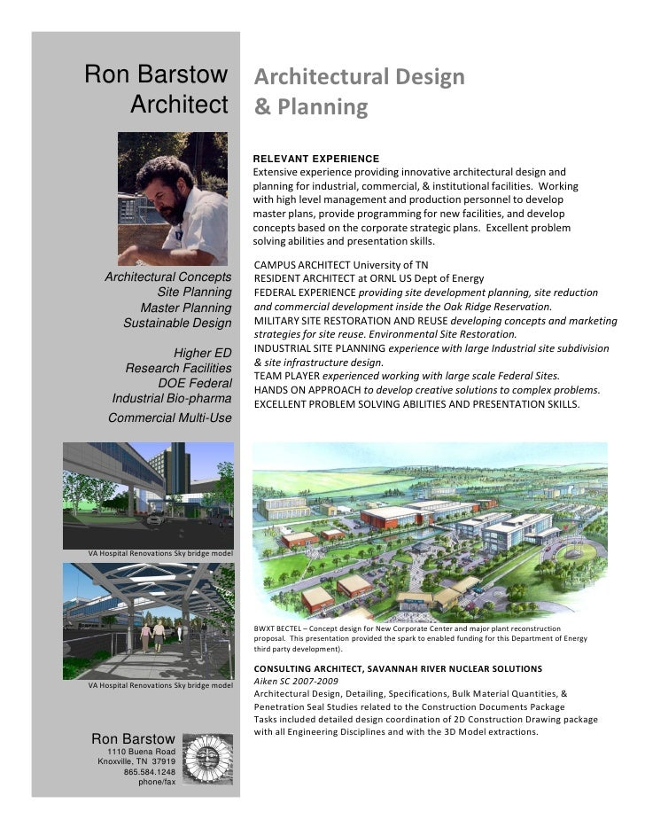 Ron Barstow                                Architectural Design    Architect                               & Planning     ...
