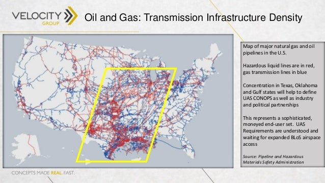 Commercial Drones Access Ecosystem And Market Opportunity At AUVSI - Gas transmission and hazardous liquid pipelines in the us map