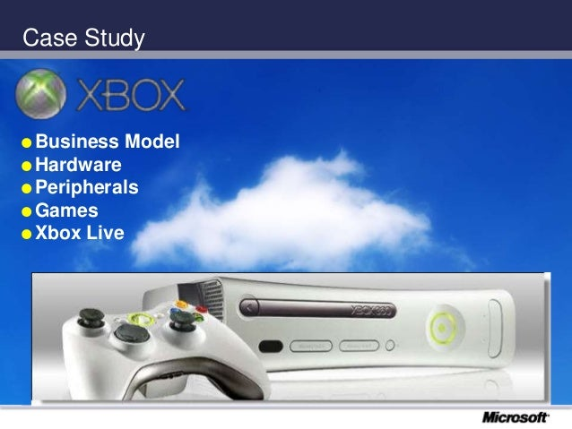 Case Study  Business Model  Hardware  Peripherals  Games  Xbox Live