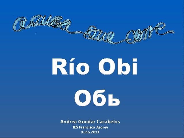 Andrea Gondar Cacabelos IES Francisco Asorey Xuño 2013