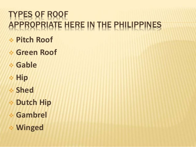 Roof for Types of roof covering materials