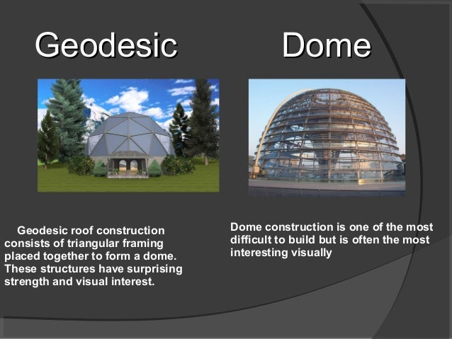 DomeDome Dome construction is one of the most difficult to build but is often the most interesting visually Geodesic roof ...