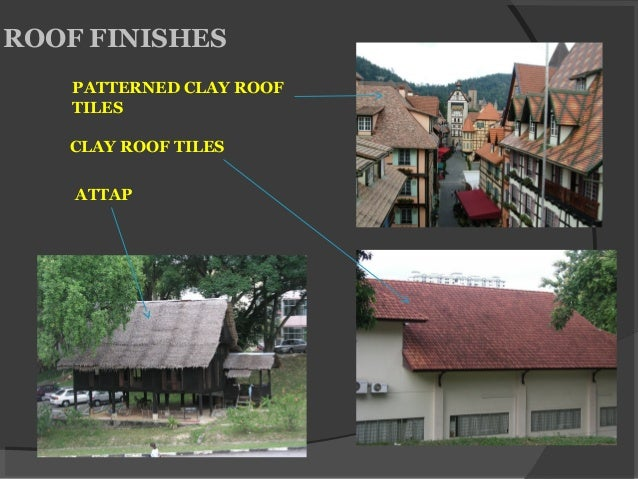 ROOF FINISHES ATTAP CLAY ROOF TILES PATTERNED CLAY ROOF TILES