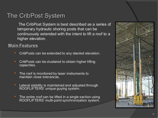 The CribPost SystemThe CribPost System Main FeaturesMain Features  CribPosts can be extended to any desired elevation.  ...