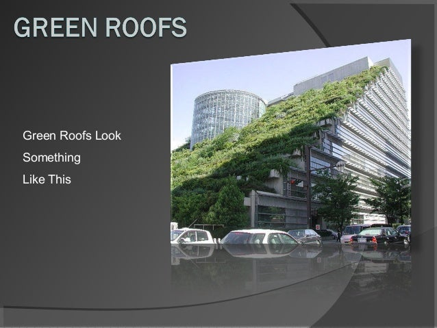 Green Roofs Look Something Like This