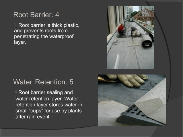 4.Root Barrier  Root barrier is thick plastic, and prevents roots from penetrating the waterproof layer. 5.Water Retentio...