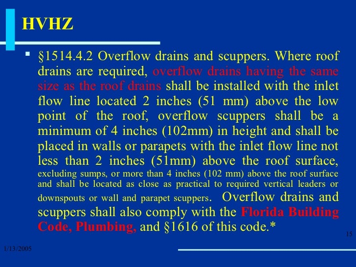 The High Velocity Hurricane Zone Roof Drainage Requirements