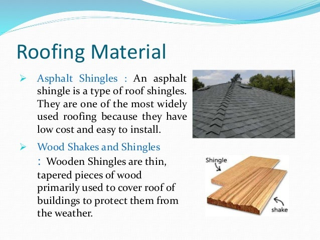Roofing materials for Types of roof covering materials