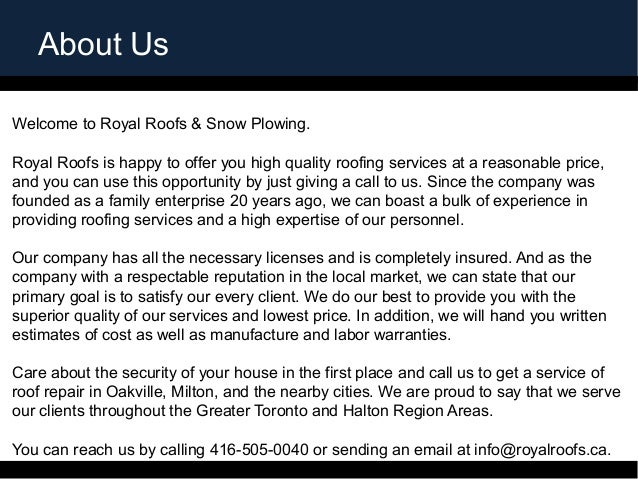 Royal Roofs Amp Roofing Contractors Milton U2013 Royal Roofs Ltd