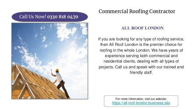 Best Roofing Company I All Roof London Call Us Today 0330 818 0470