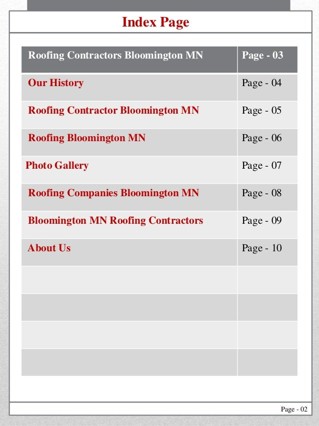 2. Page   02 Roofing Contractors Bloomington MN ...