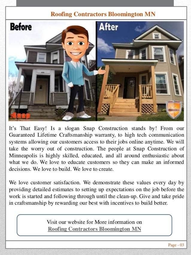 ... MN Roofing Contractors Page   09 About Us Page   10 Index Page; 3.