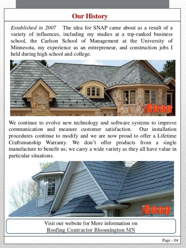 ... Roofing Contractors Bloomington MN; 4.