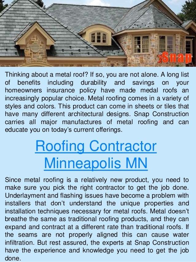 Roofing Contractor Minneapolis ...
