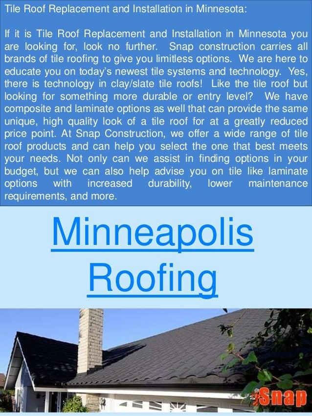 Minneapolis Roofing .
