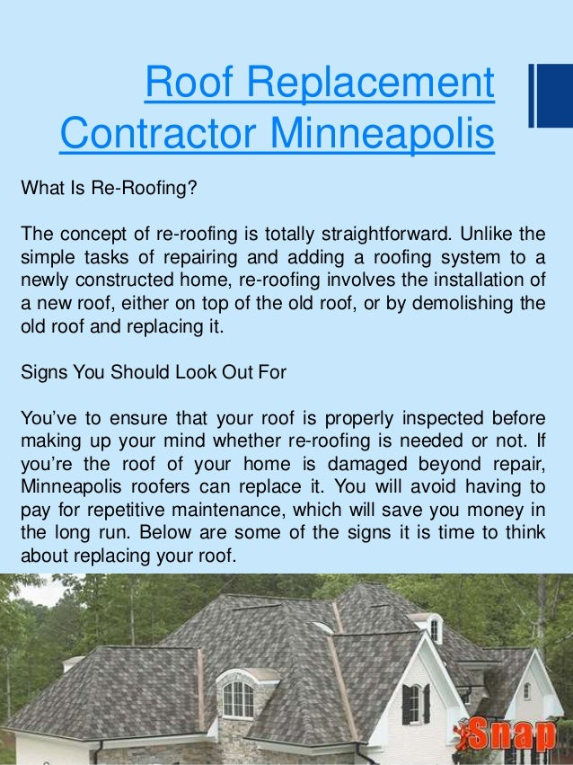Roof Replacement Contractor Minneapolis ...
