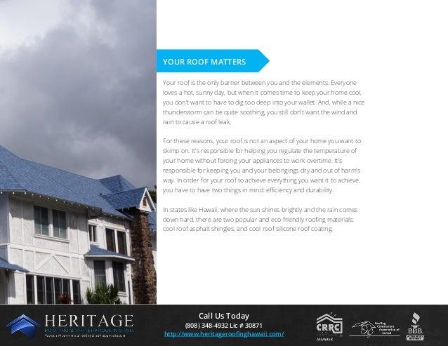 Roofing For Efficiency: Cool Roof Coating & Asphalt Shingles