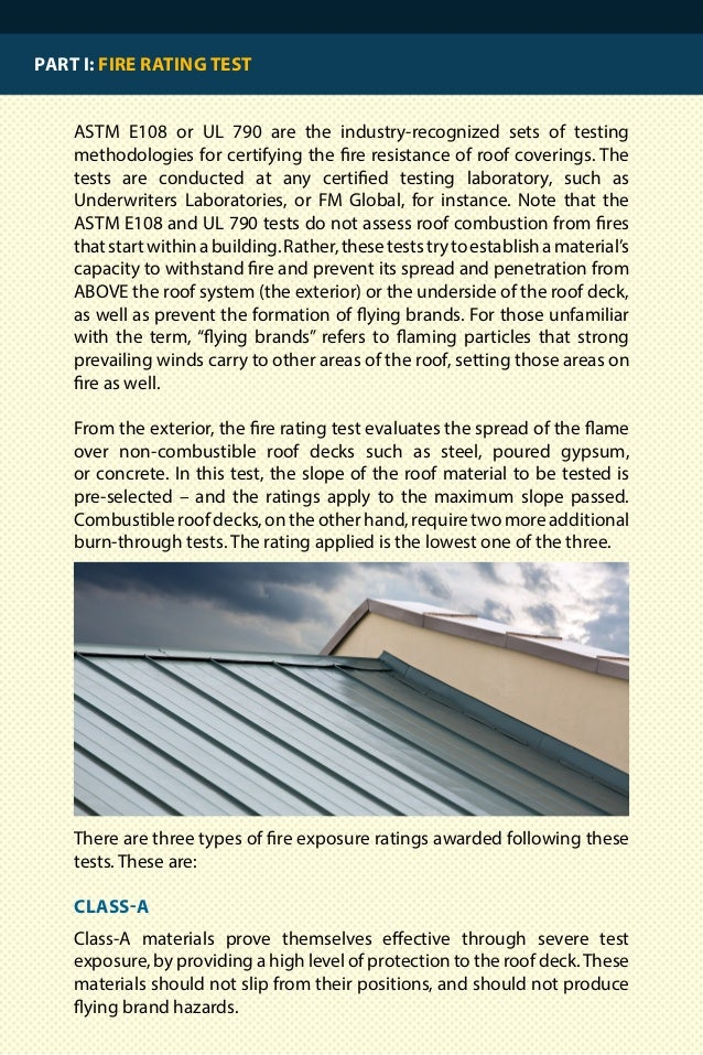 4. PART 2: BEST ROOF COVERINGS FOR FIRE RESISTANCE  Wediscussedwhichtestsratematerialsaccordingtotheirfireperformance ...