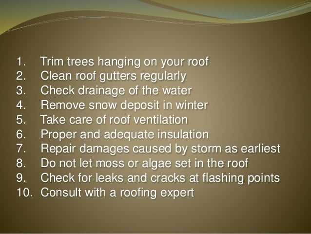 Save Money With Roofing Maintenance 10 Things You Can Do Now