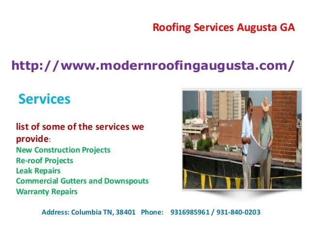 Roof Repairs Augusta Ga 31 03 2015