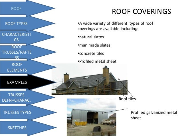 Roofs and truss for Names of roofing materials