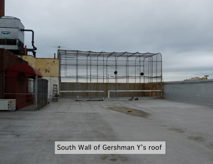 South Wall of Gershman Y's roof