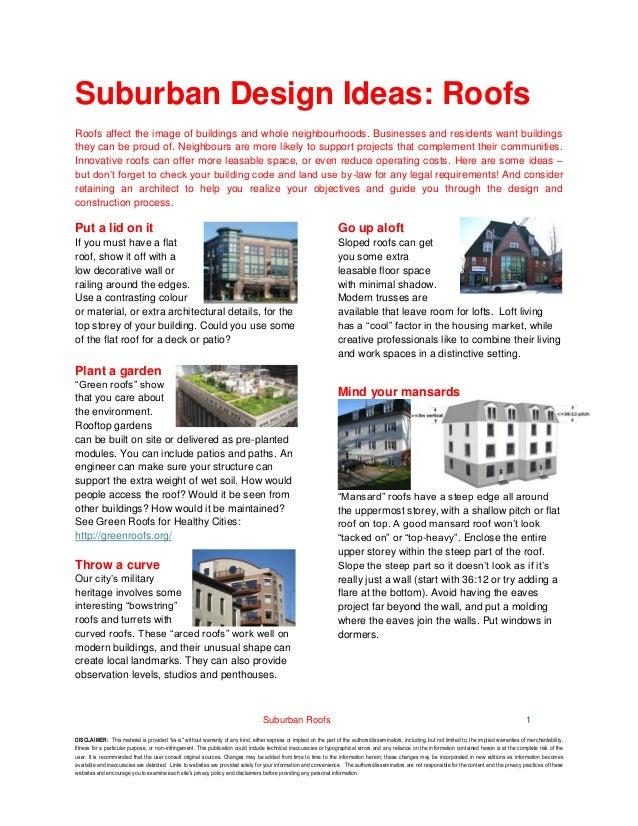 Suburban Design Ideas Roofs