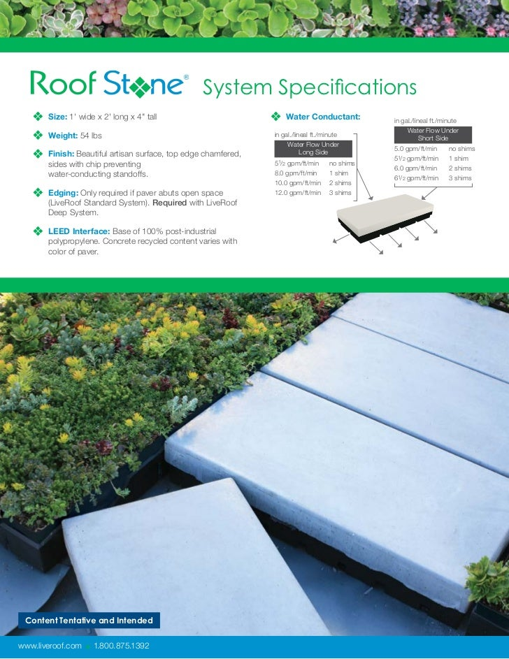 Introducing Roofstone The Integrated Paver Solution For