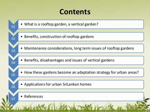 Rooftop and vertical gardensas an adaptation strategy forurban areas  2. Rooftop and vertical gardens as an adaptation strategy