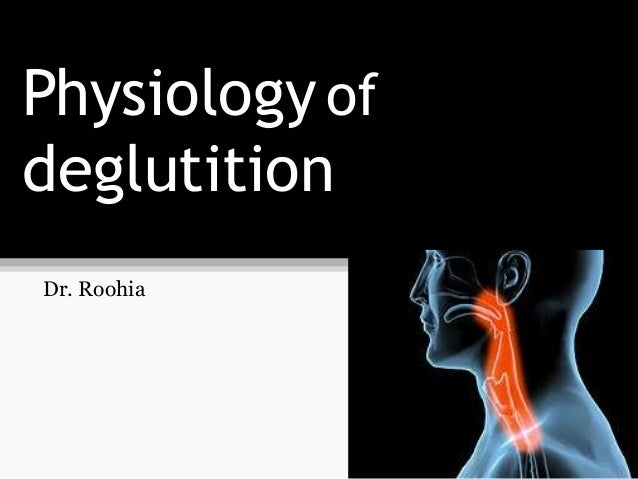 Physiology of deglutition Dr. Roohia