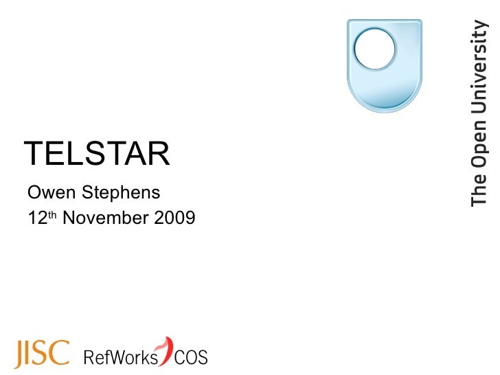 TELSTAR Owen Stephens 12 th  November 2009