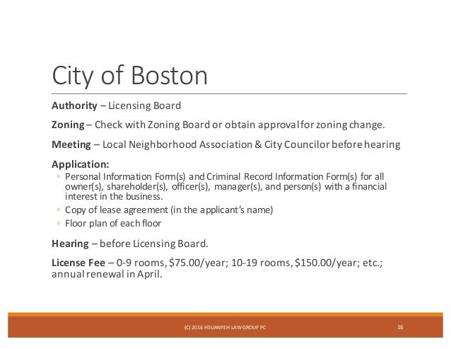 Massachusetts Rooming House License