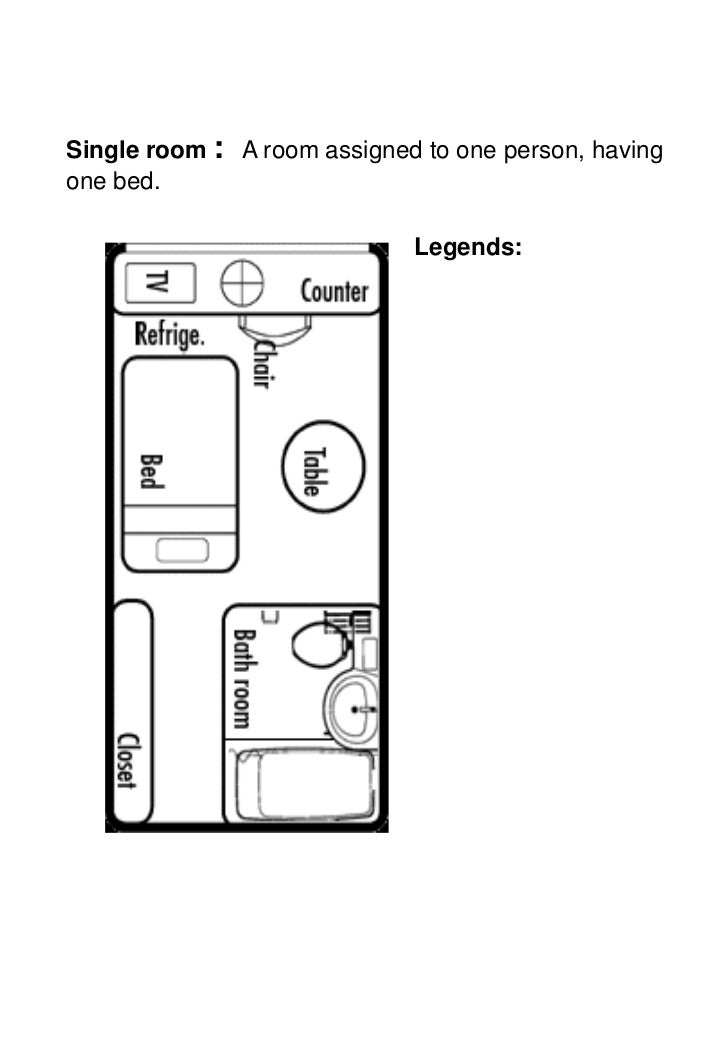 Single Room Hotel Plan Images