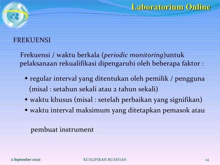 <ul><li>FREKUENSI </li></ul><ul><li>Frekuensi / waktu berkala ( periodic monitoring )untuk pelaksanaan rekualifikasi dipen...