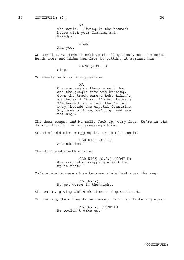 Original Room Script