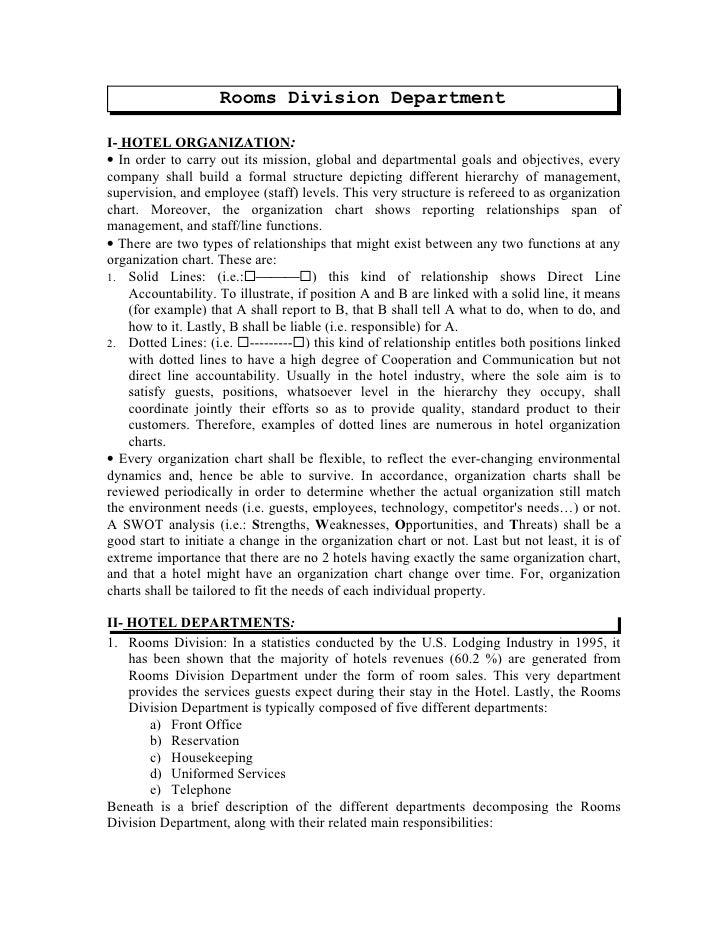 rooms division department rh slideshare net Workshop Manual Maintenance Manual