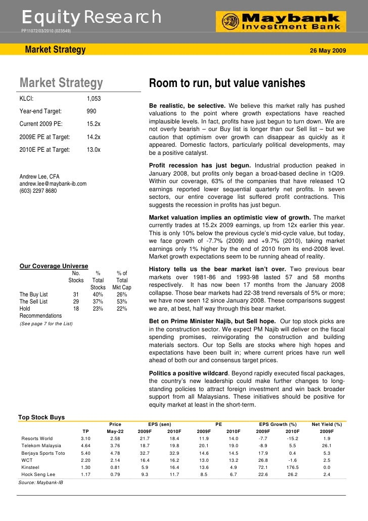 Equity Research  PP11072/03/2010 (023549)      Market Strategy                                                            ...