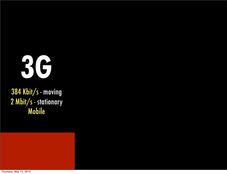 3g 384 Kbits Moving