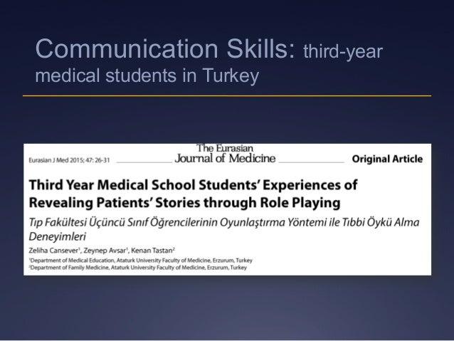 Communication Skills: third-year medical students in Turkey