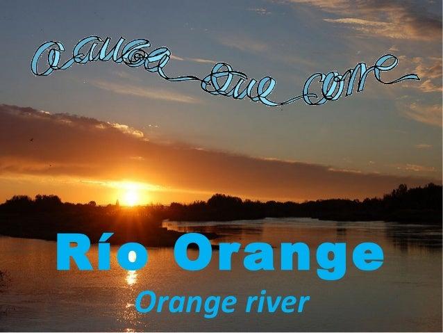 Río Orange Orange river