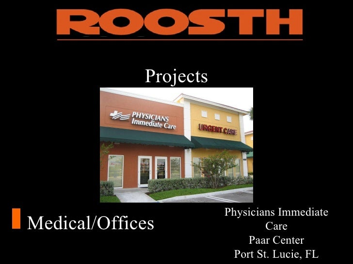 Roosth Power Point Company Presentation
