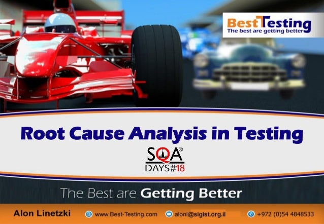 © copyrights to Alon Linetzki, Best-Testing, 2015 Root Cause Analysis in Testing