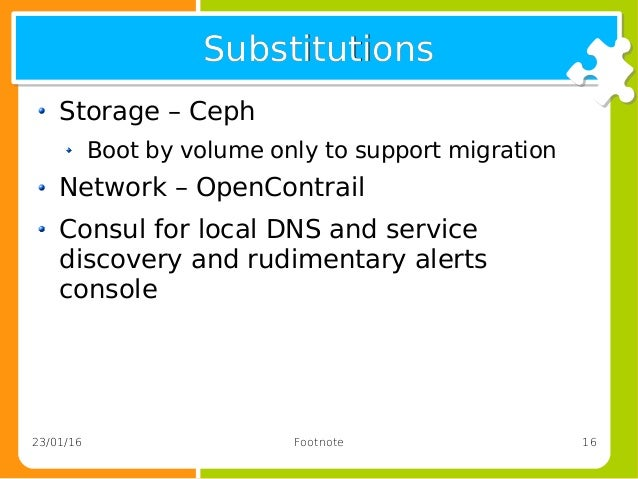 Openstack getting it all up magically and when the for Consul dns service