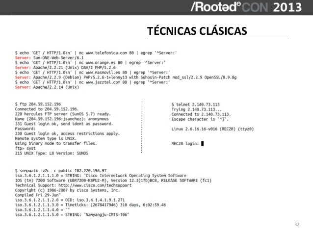 TÉCNICAS CLÁSICAS                       32