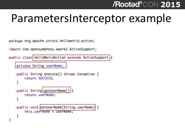 ParametersInterceptor  example