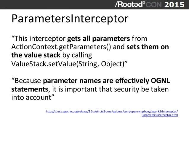 """ParametersInterceptor   """"This  interceptor  gets  all  parameters  from   AcVonContext.getParameters()  an..."""
