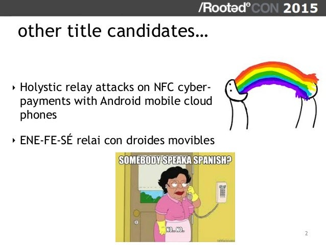 On Relaying NFC Payment Transactions using Android devices Slide 2