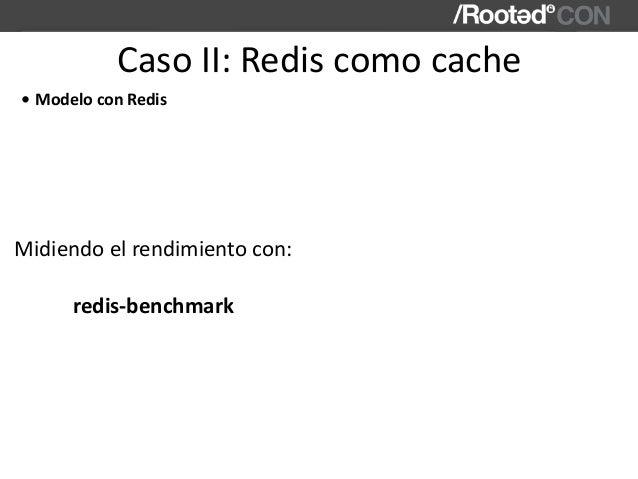 CasoII:Rediscomocache • ModeloconRedis Midiendoelrendimientocon: redis-benchmark