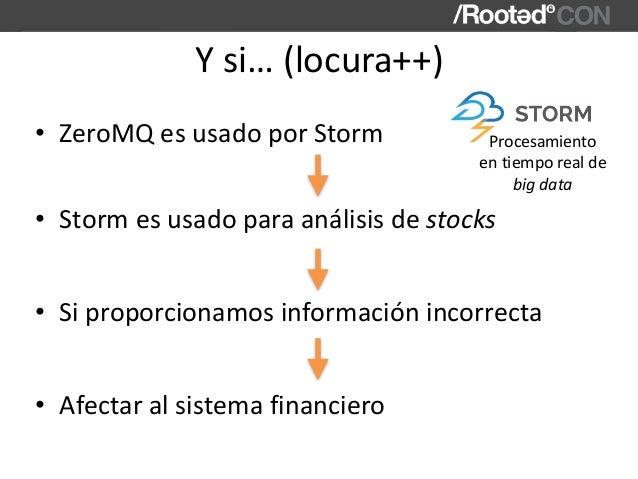 Ysi…(locura++) • ZeroMQesusadoporStorm • Stormesusadoparaanálisisdestocks • Siproporcionamosinformacióninco...